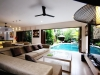 living area overlooking the pool